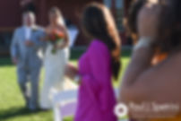 Jennifer walks down the aisle during her September 2017 wedding ceremony at Allen Hill Farm in Brooklyn, Connecticut.