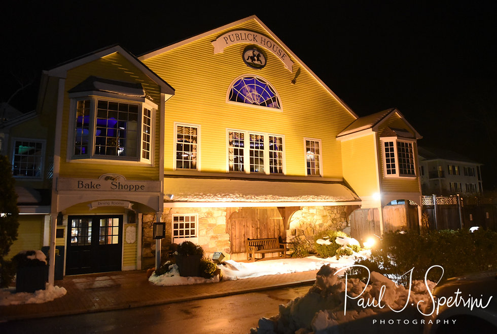 A look at the Publick House Historic Inn in Sturbridge, Massachusetts during Nicole & Kurt''s November 2018 wedding reception.