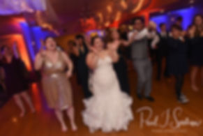 Stephanni dances with guests during her October 2018 wedding reception at Rachel's Lakeside in Dartmouth, Massachusetts.