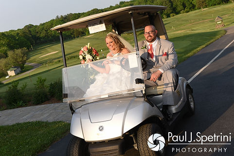 Michelle and Eric finish their formal photo session following their May 2016 wedding at Hillside Country Club in Rehoboth, Massachusetts.