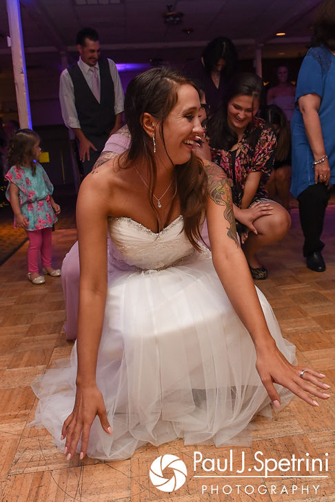 Stacey dances during her September 2017 wedding reception in Warren, Rhode Island.