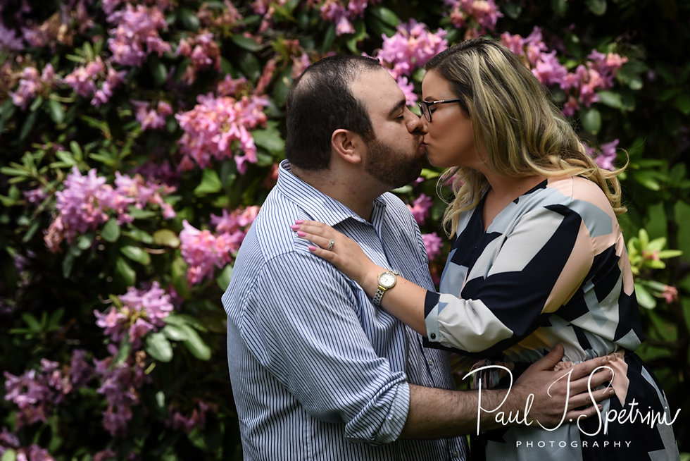 Sarah & Anthony pose for a photo during their June 2018 engagement session at Roger Williams Park in Providence, Rhode Island.