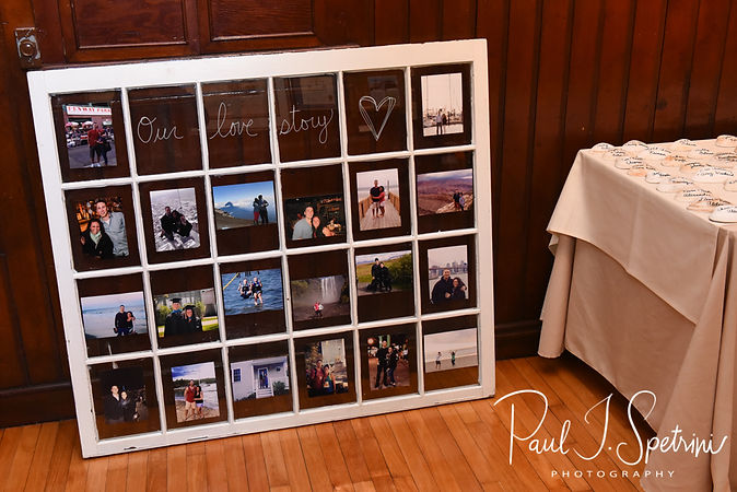 A look at some of the decorations on display prior to Michael & Miranda's August 2018 wedding ceremony at the Squantum Association in Riverside, Rhode Island.