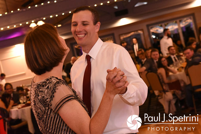 Keiran and his mother dance during his October 2017 wedding reception at Crystal Lake Golf Club in Mapleville, Rhode Island.