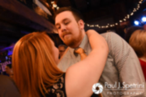 Guests dance during Crystal and Andy's November 2016 wedding reception at the Salem Cross Inn in West Brookfield, Massachusetts.