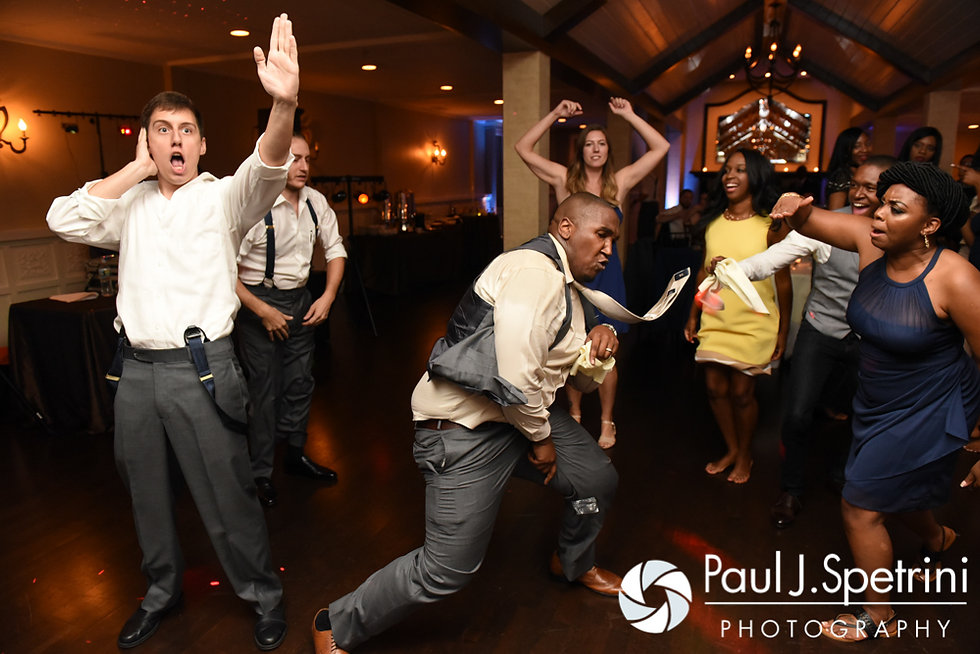 Warren cuts loose during his August 2016 wedding reception at the Villa at Riddler Country Club in East Bridgewater, Massachusetts.