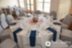 A look at the tables set up for Michelle and Eric's May 2016 wedding at Hillside Country Club in Rehoboth, Massachusetts.