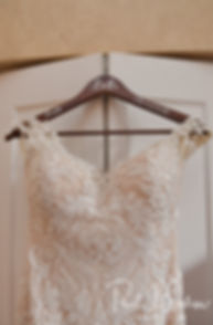 A look at Beth's wedding dress prior to her August 2018 wedding ceremony at Fort Phoenix in Fairhaven, Massachusetts.