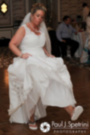 Angela dances at her spring 2016 Rhode Island wedding at the Hotel Viking in Newport, Rhode Island.