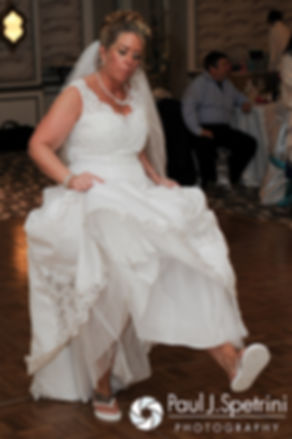 Angela dances at her spring 2016 Rhode Island wedding at the Hotel Viking in Newport, Rhode Island.