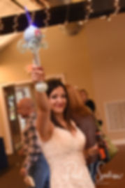 Amanda plays with bubbles during her October 2018 wedding reception at Loon Pond Lodge in Lakeville, Massachusetts.