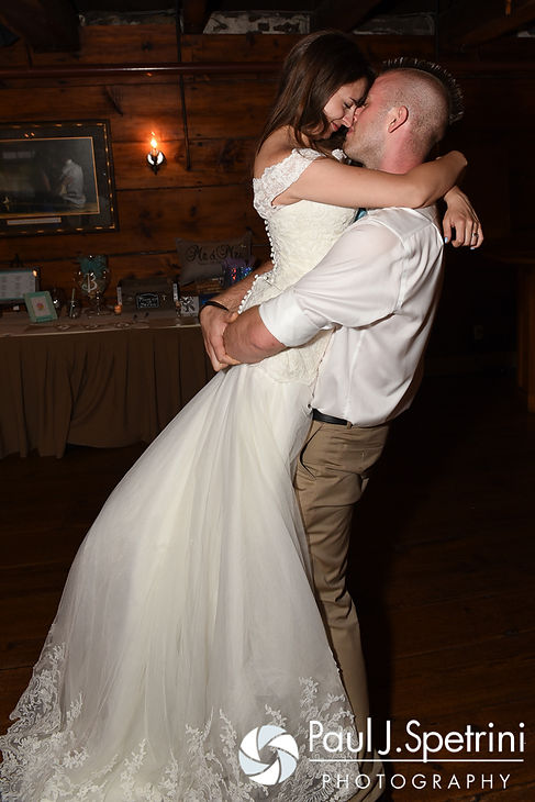Krystal and Ian dance during their May 2016 wedding reception at DeWolf Tavern in Bristol, Rhode Island.