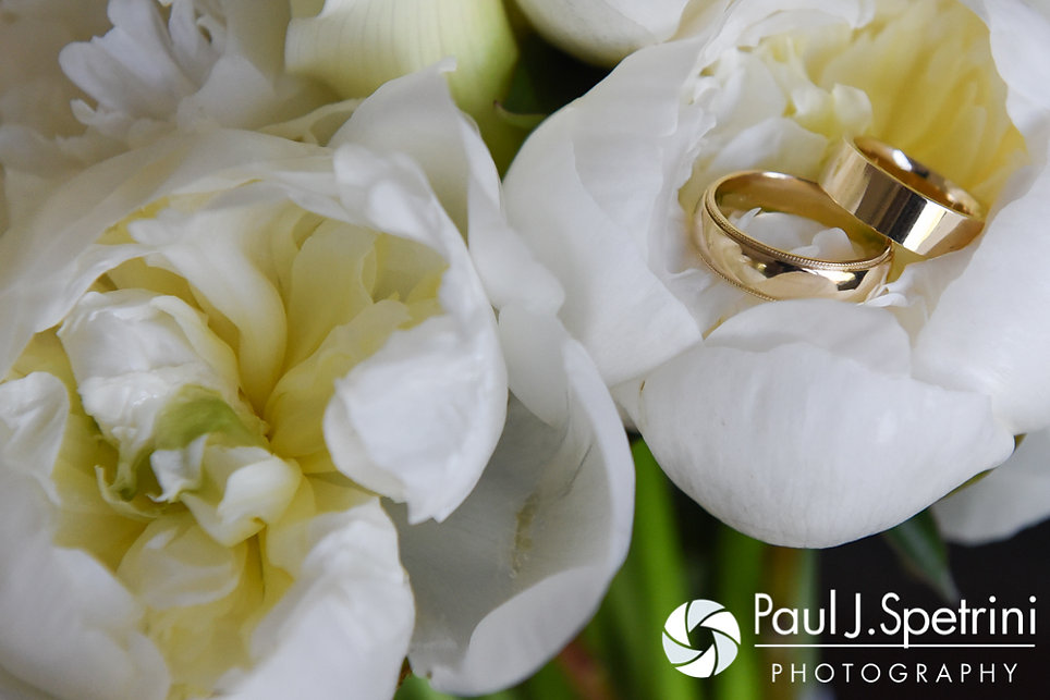 A look at Bob and Debbie's wedding rings prior to their June 2016 wedding in Barrington, Rhode Island.