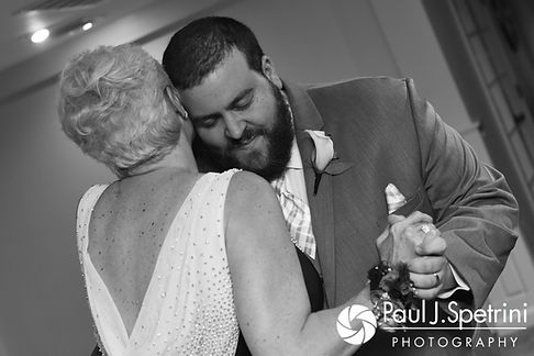 Jordan dances with his mother during his May 2017 wedding reception at Independence Harbor in Assonet, Massachusetts.
