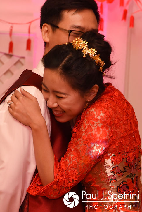 Cynthia laughs during her August 2017 wedding reception at Lake Pearl in Wrentham, Massachusetts.
