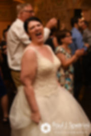 Allison dances during her September 2017 wedding reception at the Roger Williams Park Casino in Providence, Rhode Island.