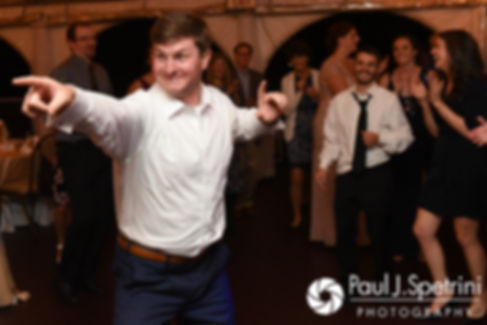 Mike dances during his October 2017 wedding reception at Castle Manor Inn in Gloucester, Massachusetts.