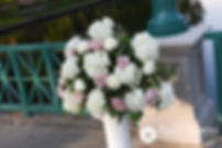 A look at the flowers prior to Allison and Len's September 2017 wedding ceremony at the Roger Williams Park Casino in Providence, Rhode Island.