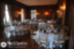 A look at one of the Aldrich Mansion dining rooms set up for Amy and DJ's June 2016 wedding reception.