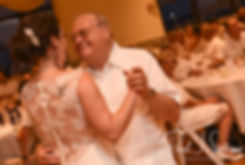 Selah and her father dance during her August 2018 wedding reception at The Rotunda Ballroom at Easton's Beach in Newport, Rhode Island.