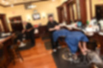Brian and his groomsmen get haircuts prior to his September 2018 wedding ceremony, at Gents Barbershop and Spa in Cranston, Rhode Island.