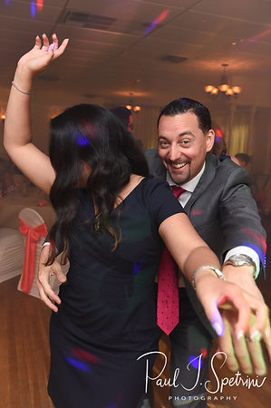 Guests dance during Jacob & Stephanie's June 2018 wedding reception at Foster Country Club in Foster, Rhode Island.
