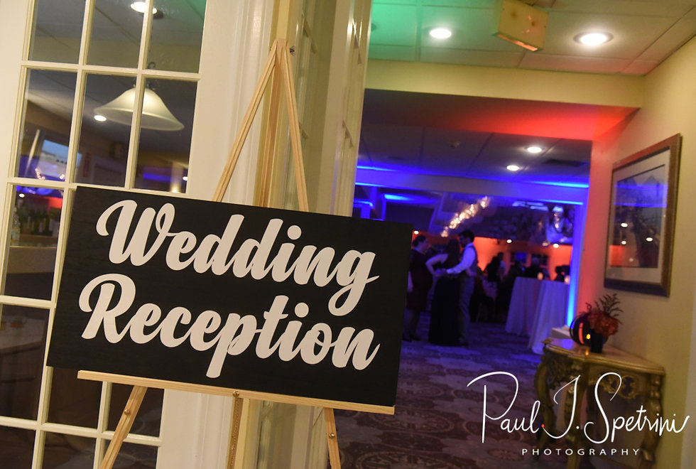 A look at the ballroom during Chris & Stephanni's October 2018 wedding reception at Rachel's Lakeside in Dartmouth, Massachusetts.