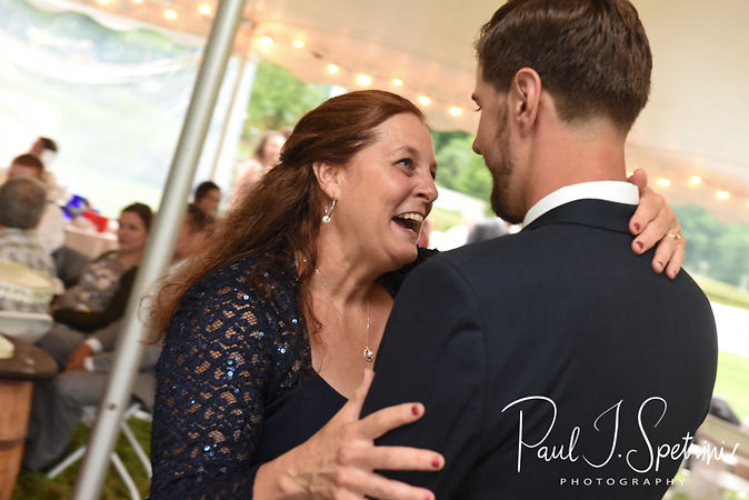 Ethan and his mother dance during his August 2018 wedding reception at a private residence in Sterling, Connecticut.