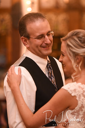 Nicole and her stepfather dance during his November 2018 wedding reception at the Publick House Historic Inn in Sturbridge, Massachusetts.