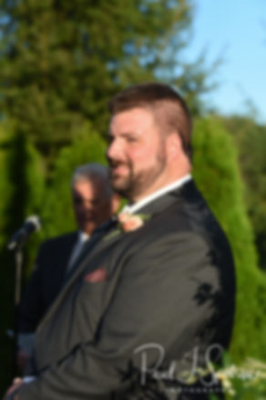 Steve sees Katie for the first time during his October 2018 wedding ceremony at The Villa at Ridder Country Club in East Bridgewater, Massachusetts.