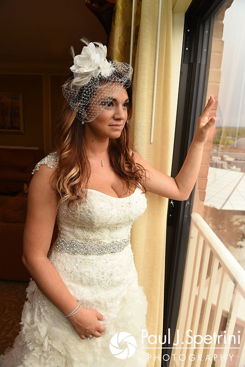 Nicky poses for a photo prior to her September 2017 wedding ceremony at the Crowne Plaza Hotel in Warwick, Rhode Island.