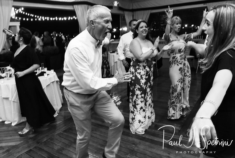Mike dances with a guest during his May 2018 wedding reception at Regatta Place in Newport, Rhode Island.