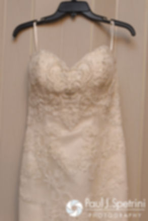 A look at Jennifer's wedding dress prior to her September 2016 wedding at the Roger Williams Park Temple of Music in Providence, Rhode Island.