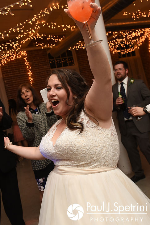 Meridith dances during her May 2017 wedding reception at the Hope Artiste Village in Pawtucket, Rhode Island.