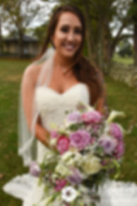 Stacey poses for a formal photo following her September 2017 wedding ceremony at Colt State Park in Bristol, Rhode Island.