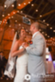 Kevin and Jen dance during their September 2017 wedding reception at Allen Hill Farm in Brooklyn, Connecticut.