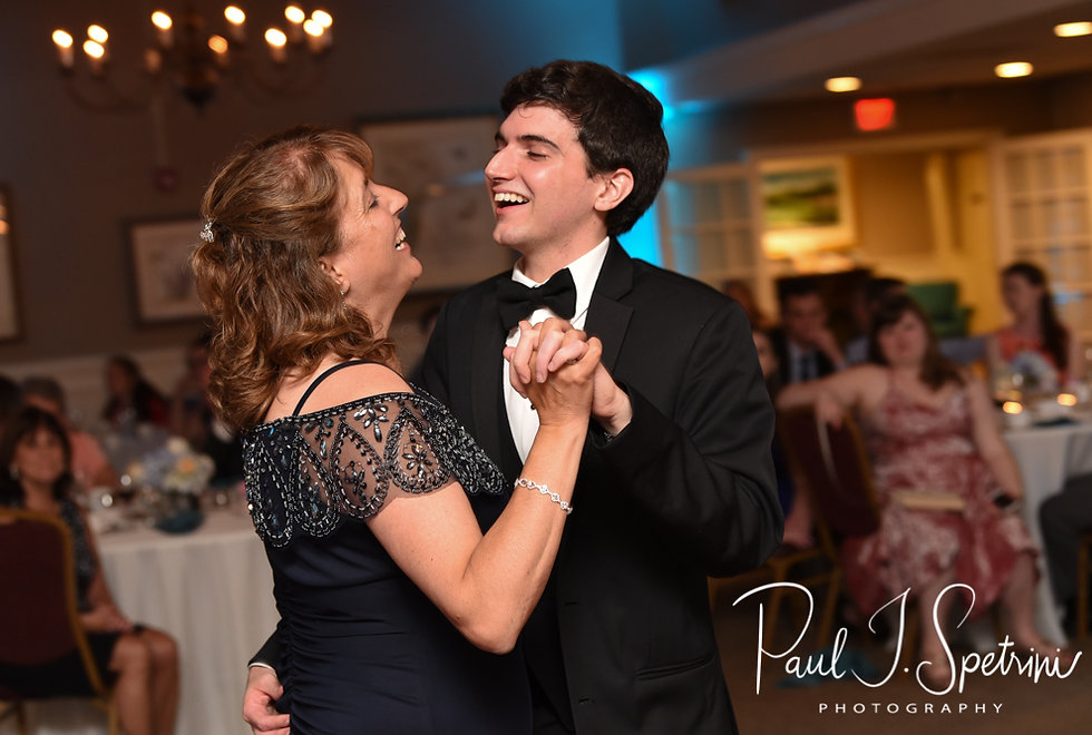 Brian and his mother dance during his June 2018 wedding reception at Pleasant Valley Country Club in Sutton, Massachusetts.