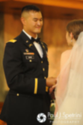 Dan looks at SImonne during their June 2016 wedding in Providence, Rhode Island.