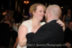 Kerry and Adam dance at their October wedding at Quidnessett Country Club in North Kingstown, Rhode Island.