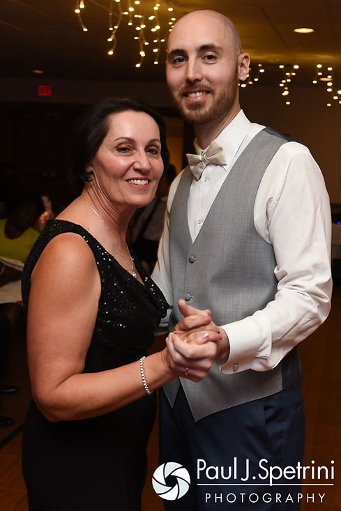 Mark and his mother dance during his September 2016 wedding reception at the RI Shriners and Imperial Room at Rhodes Place in Providence, Rhode Island.