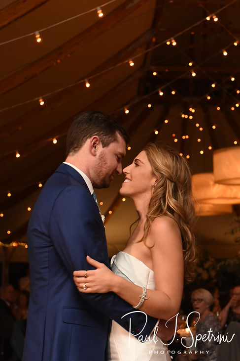 David & Whitney have their first dance during their October 2018 wedding reception at Castle Hill Inn in Newport, Rhode Island.