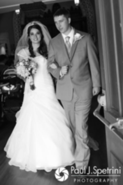 Neil and Gianna exit the church following their July 2017 wedding ceremony at Peace Dale Congregational Church in South Kingstown, Rhode Island.