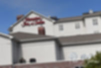 A look at the Hampton Inn & Suites in Warwick, Rhode Island, site of Justine's bridal prep prior to her October 2018 wedding ceremony at Twelve Acres in Smithfield, Rhode Island.