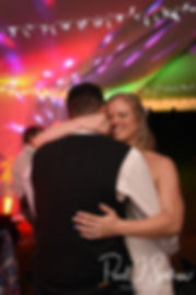 Kim dances with Josh during her September 2018 wedding reception at their home in Coventry, Rhode Island.