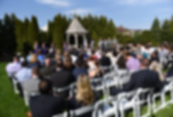 Sam & Katie exchange vows during their April 2018 wedding ceremony at Quidnessett Country Club in North Kingstown, Rhode Island.