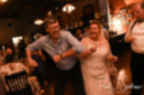 Guests dance during Patti & Bob's August 2018 wedding reception at the Olde Colonial Cafe in Norwood, Massachusetts.
