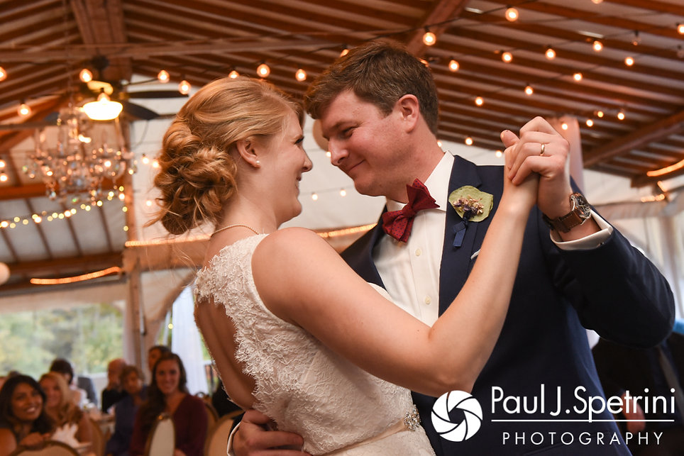 Mike and Rachel dance during their October 2017 wedding reception.