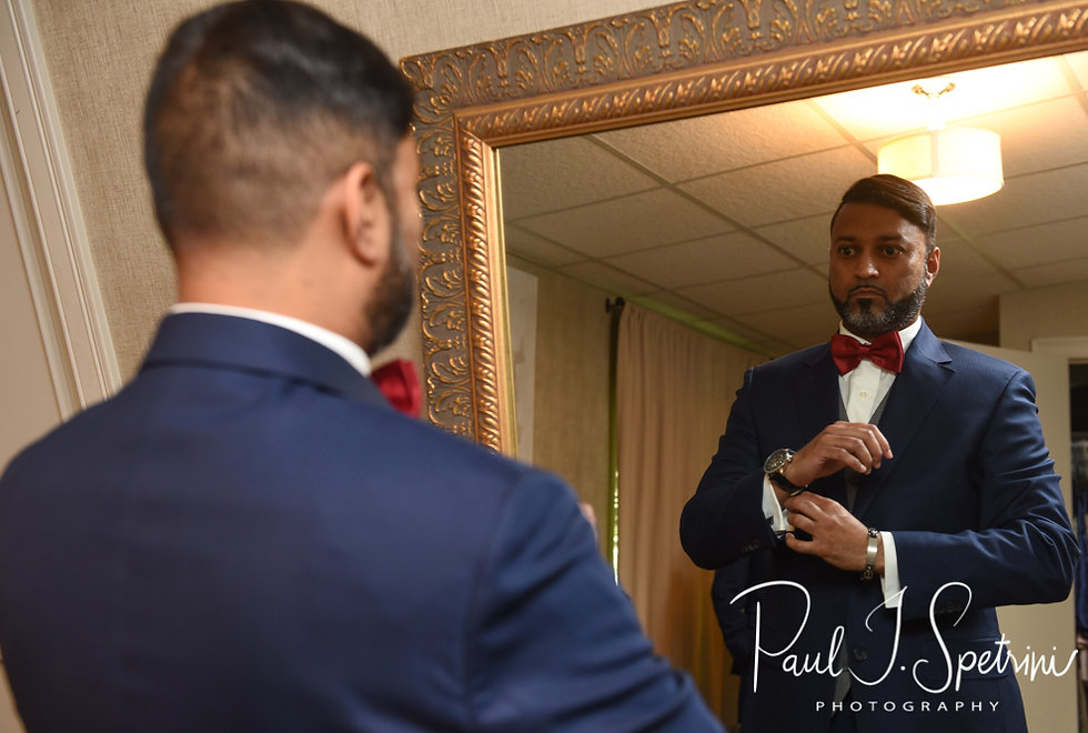 Jimmy gets ready prior to his July 2018 wedding ceremony at Lake Pearl in Wrentham, Massachusetts.