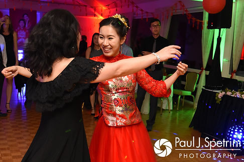 Cynthia dances during her August 2017 wedding reception at Lake Pearl in Wrentham, Massachusetts.