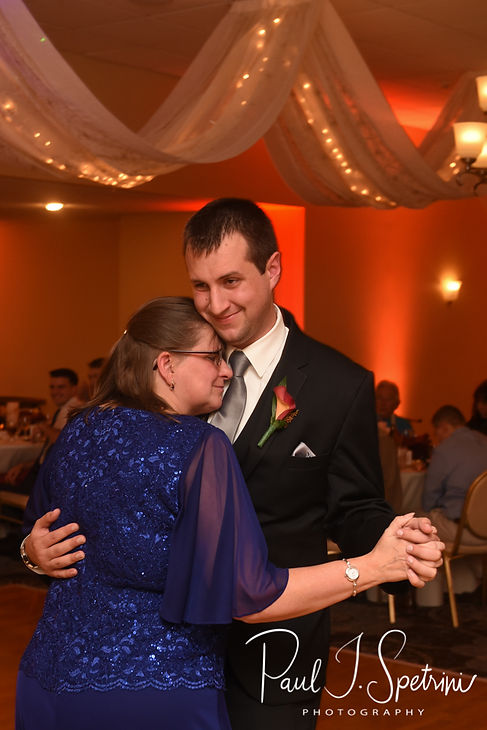 Chris and his mom dance during his October 2018 wedding reception at Rachel's Lakeside in Dartmouth, Massachusetts.
